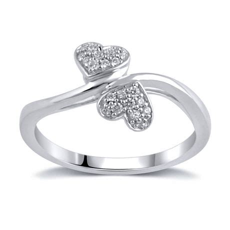 0 09ct t w promise ring in sterling silver