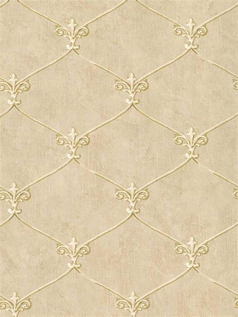 wallpaper gold beige wallpaper small gold leaf fleur de lis lattice trellis on
