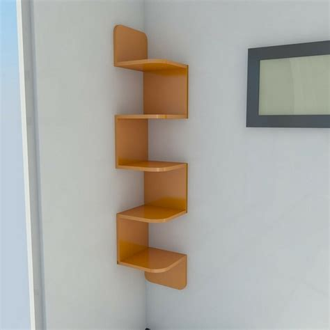 a modern corner shelf for your home room decorating