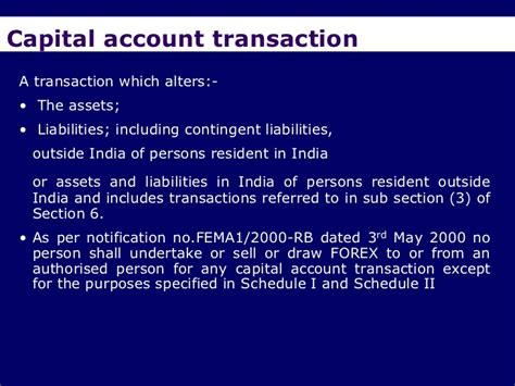 Section 3 Of Fema by Fema An Overview A Presentation By Ca Sudha G Bhushan