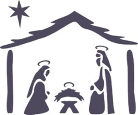nativity graphic christmas stencil