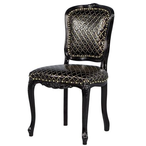 gold chairs for sale monark accent chair in embossed black with gold leather