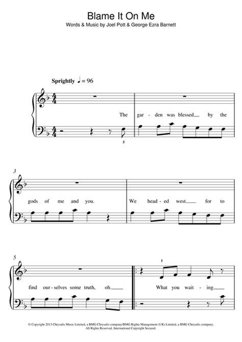 barcelona george ezra chords george ezra blame it on me sheet music