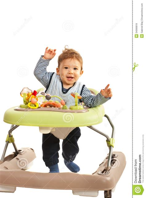 Walking Baby Back Home by Happy Baby In Baby Walker Royalty Free Stock Images