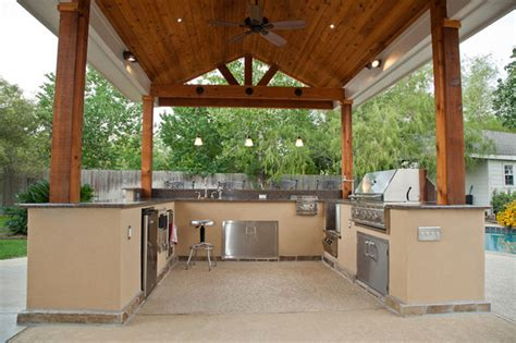 Dining Room Tables Houston Outdoor Kitchen And Patio Cover In Katy Tx Traditional