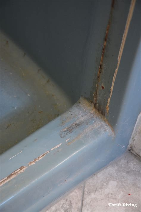 how to remove paint from a bathtub diy shower and tub refinishing i painted my old 1970 s shower
