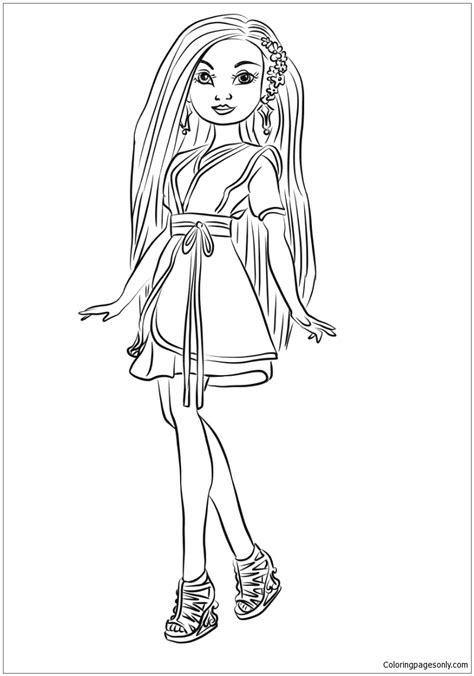 wicked world coloring page lonnie from descendants wicked world coloring page free