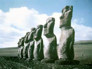 Easter island statues desktop wallpaper