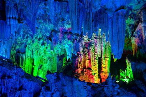 reed flute cave china reed flute the rainbow cave that changes colors