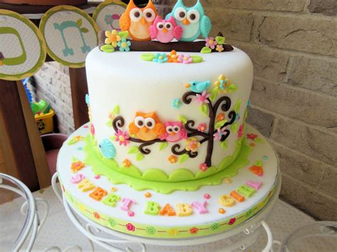 Owl Decoration For Baby Shower by Owl Family Baby Shower Cake Cake By Ellie1985 Cakesdecor