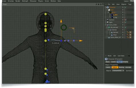 cinema 4d character template overview of the advanced biped character template system