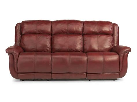 flexsteel living room leather power reclining sofa 1251