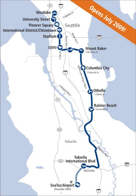 seattle link light rail map seattle s link light rail system brings rapid transit