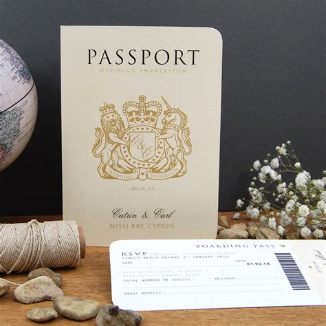 Wedding Invitation Card Style by Passport To Travel Card Style Wedding Invitation By