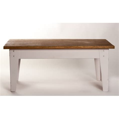 table noir et bois wood top coffee table with distressed white metal base