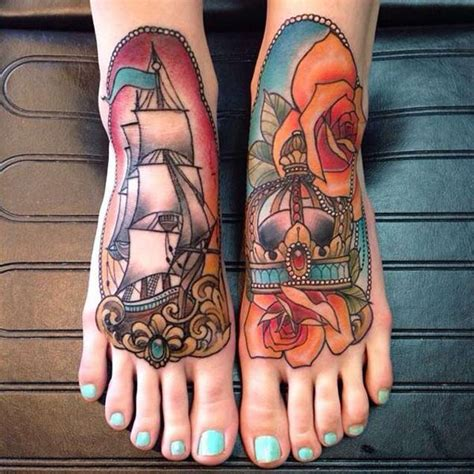 one piece foot tattoo 50 amazing ship tattoos you won t believe are real