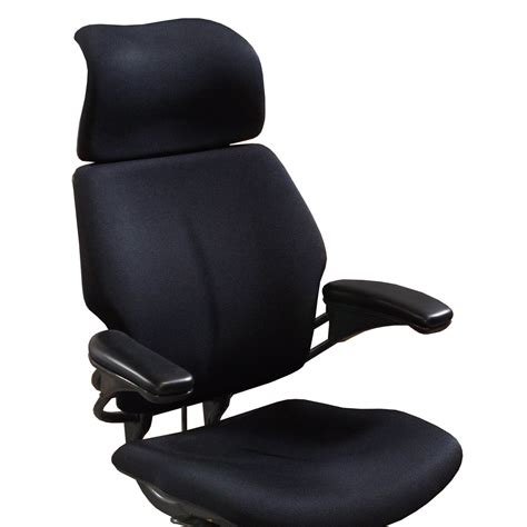 human chair humanscale freedom used high back task chair w headrest