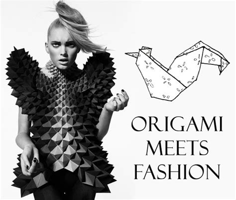 Origami In Fashion - origami a three way perspective