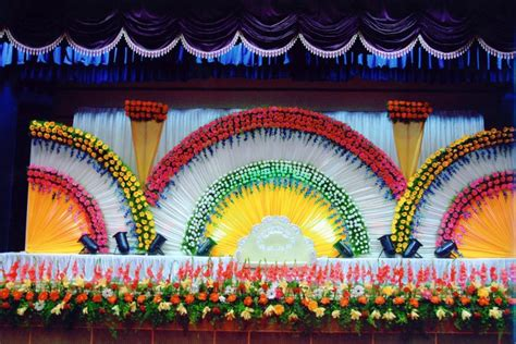 decoration and design bangalore stage decoration design 374 weddingokay com