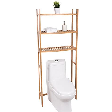 bed bath beyond bamboo bathroom furniture best living 3 shelf bamboo over the toilet space saver