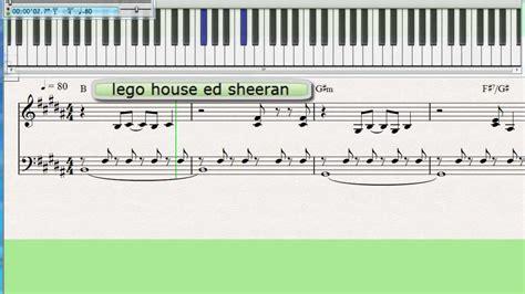 keyboard listener tutorial lego house ed sheeran piano keyboard tutorial slow youtube