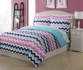 Kids Bedding Sets Full Microfiber Kids Chevron Bedding Comforter Set