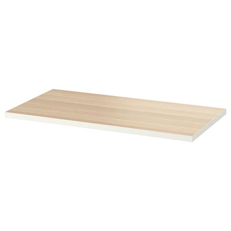 ikea bench tops linnmon table top white white stained oak effect 120x60 cm