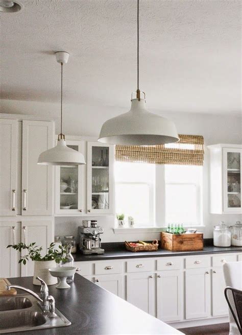 pendant lights for your kitchen island ikea kitchen 37 ways to incorporate ikea ranarp l into home d 233 cor