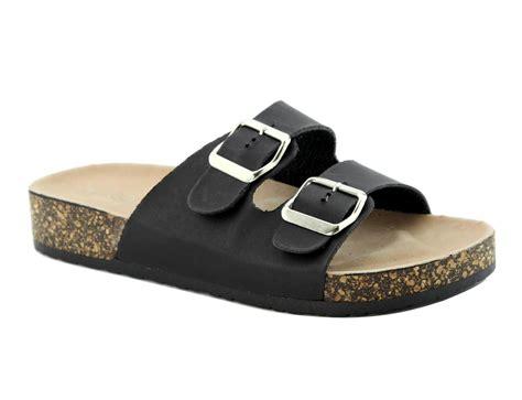 Sandal Platform Slipon new buckle straps slip on contour platform sandals flip flop flats ebay