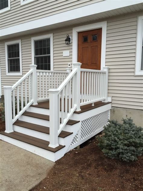 contour building trex front stairs traditional
