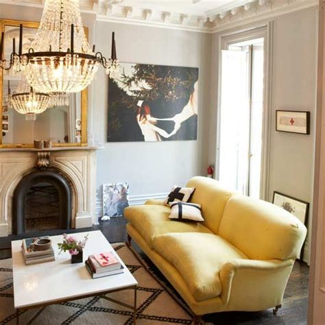 yellow couch living room show stopping pieces living rooms design ideas image