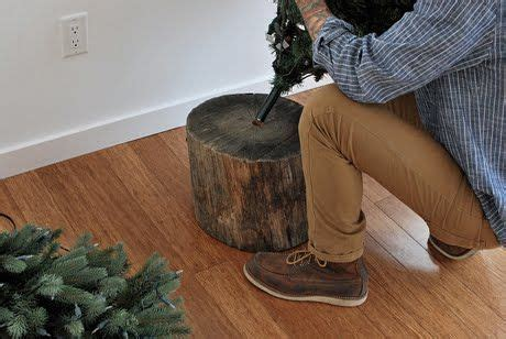 drilled christmas tree stand 25 best images about tree stump ideas on