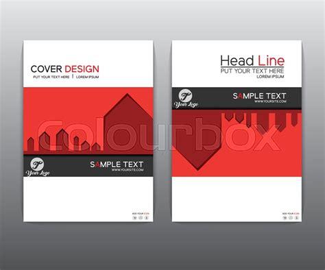 book cover layout sle brochure red black elegant vector annual report leaflet