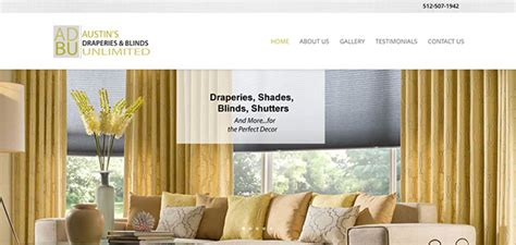 draperies unlimited alabama website design blair web commercial writing