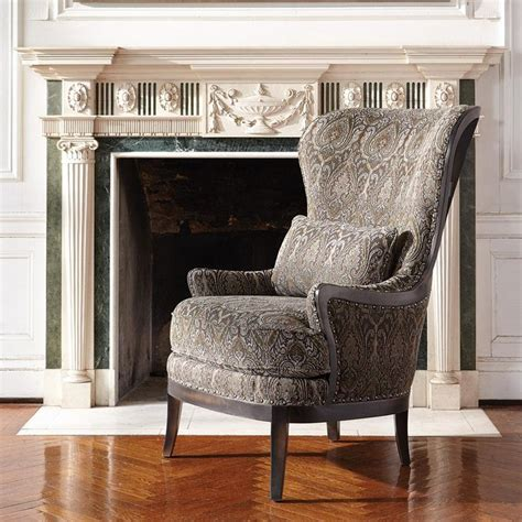 upholstery portsmouth portsmouth upholstered chair in 2280 pewter arhaus