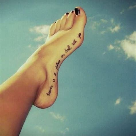 tattoo quotes for the foot quotes foot tattoo designs quotesgram