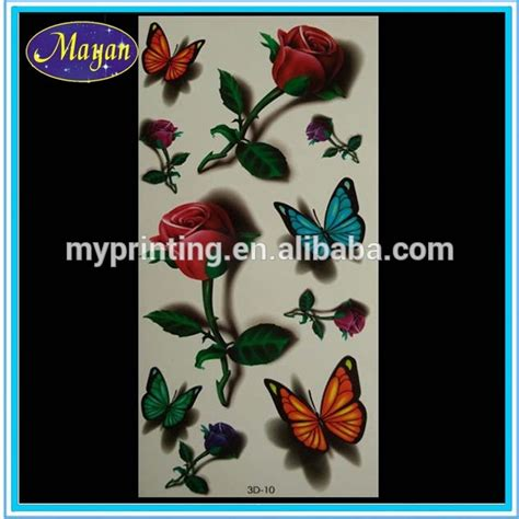 sticker tattoo indonesia 3d temporary flower tattoo sticker buy 3d tattoo sticker