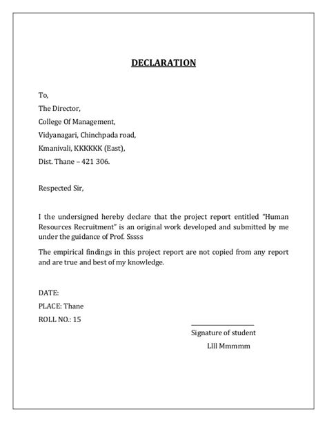 Mba Project Request Letter To A Company by Summer Internship Project Hr Mba