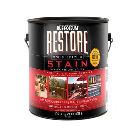 shop rust oleum restore tintable solid exterior stain