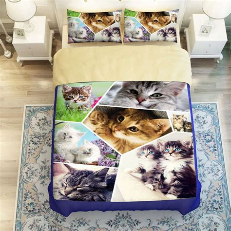 cat bed sheets sweet cat print bedding sets for boy s childrens girls home decor twin full queen king