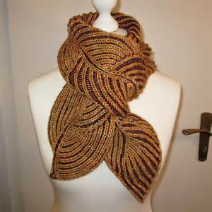 two color brioche two color brioche leaf scarf what a tangled web we weave