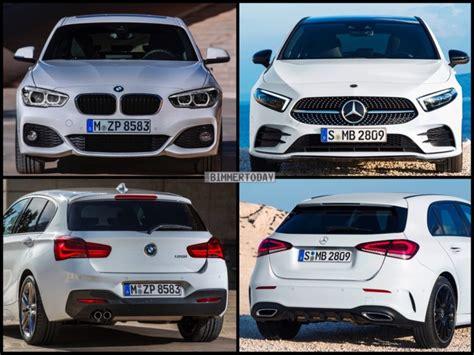 Bmw 1er 2018 Bilder by Bild Vergleich Neue Mercedes A Klasse 2018 Trifft Bmw 1er