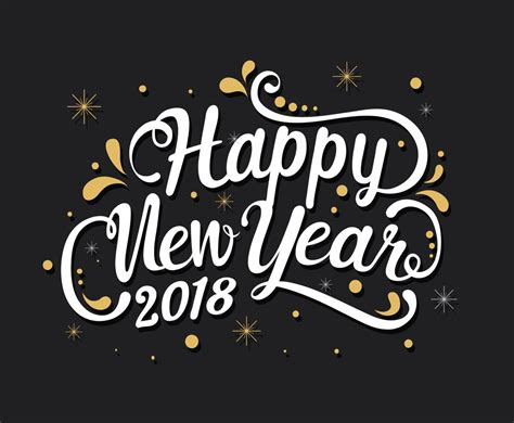 new year 2018 time happy new year 2018 greeting vector graphics