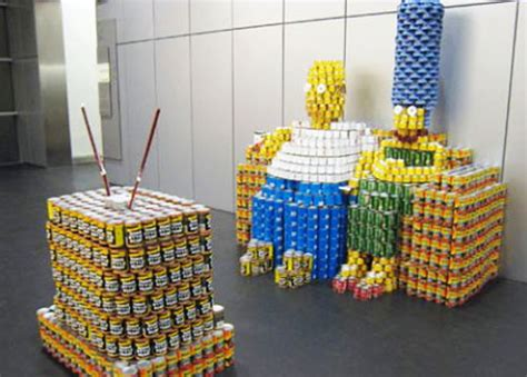 How To Build A Canned Food Sculpture by 19 Geek Inspired Can Sculptures Design Swan