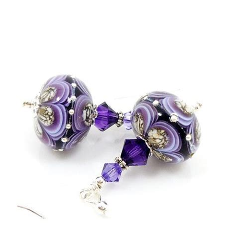 glass bead earrings 24 best images about lwork earrings on