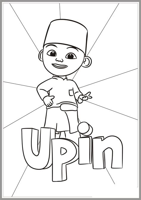 colouring page upin ipin upin ipin coloring pages complete coloring pages for