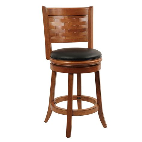 oak bar stools swivel boraam sumatra 24 in brush oak swivel cushioned bar stool 41024 the home depot
