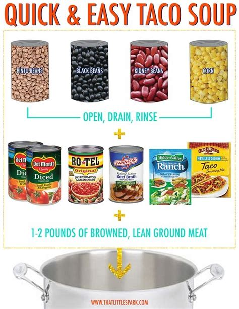 quick and easy taco soup recipe hut