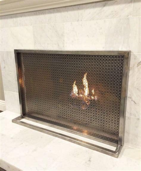 ima fireplace screen cover simple modern contemporary custom designer made luxury