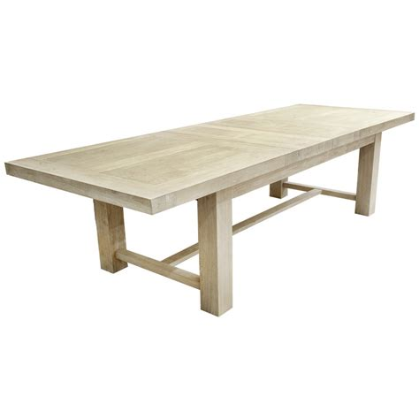 Extension Tables Dining Oak Extension Table 3 Metre White Washed Urbano Interiors